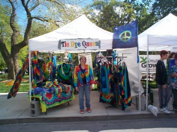 Here is my booth at Earthday!