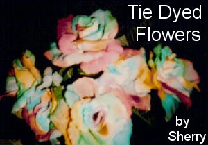 This woman makes lovely tie dyed flower arrangements! She has complete wedding packages available! Great prices, too!